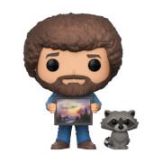 Bob Ross mit Raccoon Pop! Vinyl Figur