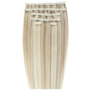 Beauty Works Double Hair Set 18 Inch Clip-In Hair Extensions (Various Shades) - Champagne Blonde 613/18 фото