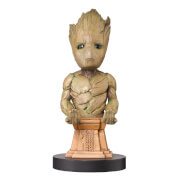 Marvel Guardians Of The Galaxy Collectible Groot 8 Inch Cable Guy Controller & Smartphone Stand