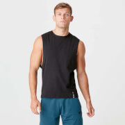 Luxe Classic Drop Armhole Tank Top - Black
