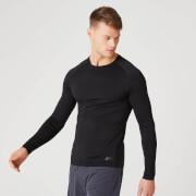 Bezszwowa Koszulka z Długim Rękawem z Kolekcji Elite – Czarna