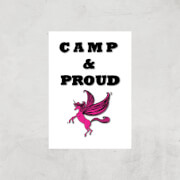 Rock On Ruby Camp & Proud Art Print - A4 - Print Only image