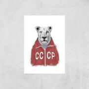 Balazs Solti CCCP Lion Art Print - A3 - Print Only image
