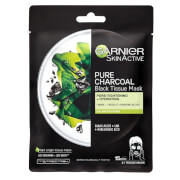 Купить Увлажняющая тканевая маска для лица с углем и водорослями Garnier Charcoal and Algae Hydrating Face Sheet Mask