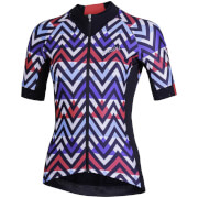 Nalini Raffinata Women's Short Sleeve Jersey - M - Black/Fuchsia