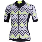 Nalini Raffinata Women's Short Sleeve Jersey - L - Black/Yellow/White