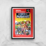 Nintendo Retro Super Mario Kart Cover Art Print