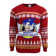 Classic Sonic Official Knitted Christmas Jumper