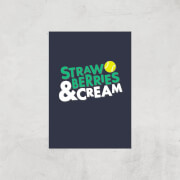 Strawberries And Cream Art Print - A4 - Print Only