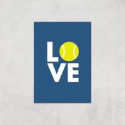 Love Tennis Art Print   A4   Print Only