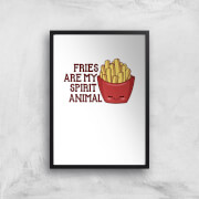 Fries Are My Spirit Animal Art Print - A3 - No Hanger