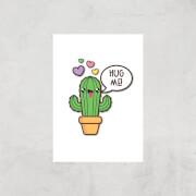 Hug Me Cactus Art Print - A3 - Print Only