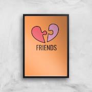 Friends Art Print - A4 - No Hanger