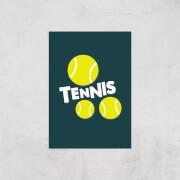 Tennis Balls Art Print   A4   Print Only