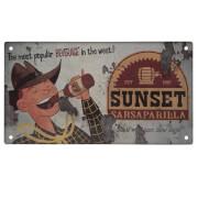 Fallout Sunset Sarsaparilla Metal Sign