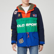Polo Sport Ralph Lauren Men's Mesh Lined Sherpa Popover Jacket - Cruise Navy/Kayak Green/Sapphire - L