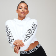 Rest Day Women's Logo Cropped Hoodie - White
