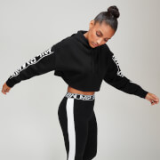Rest Day Women's Logo Cropped Hoodie - Black