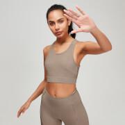 Brassière de sport d'entraînement texturée MP pour femme - Praline - XS