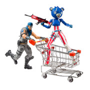 McFarlane Toys Fortnite Shopping Cart Pack With War Paint and Fireworks Team Leader