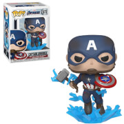 Figura Funko Pop! - Capitán América Con Escudo y Mjolnir - Marvel Vengadores: Endgame