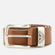 emporio armani men's eagle keeper belt - cognac - w34