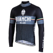 Bianchi Sillaro Long Sleeve Jersey - M - Black