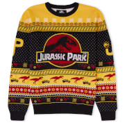 Zavvi Exclusive Jurassic Park Christmas Knitted Jumper Yellow