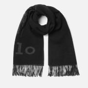 Polo Ralph Lauren Men's Oversized Logo Scarf - Black/Charcoal