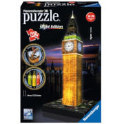 Image of Ravensburger Big Ben Night Edition 3D Jigsaw Puzzle (216 Pieces)