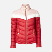 Barbour International Women's Auburn Blocked Quilted Jacket - Rhubarb/Clud/Blusher - UK 8