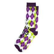 DC Comics The Joker Crew Socks - Argyle Purple and Green
