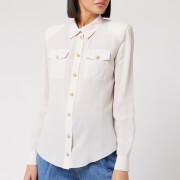 Balmain Women's Crepe De Chine Shirt - Natural - FR 40/UK 12