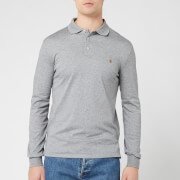 Polo Ralph Lauren Men's Pima Long Sleeve Polo Shirt - Steel Heather - S