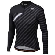 Sportful BodyFit Team Winter Jersey - S - Black/Anthracite/White