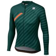 Sportful BodyFit Team Winter Jersey - XL - Sea Moss/Green/Orange SDR