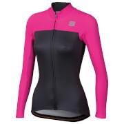 Sportful Women's BodyFit Pro Thermal Jersey - XS - Anthracite/Bubble Gum