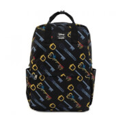 Loungefly Kingdom Hearts Keys AOP Square Nylon Backpack
