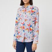 PS Paul Smith Women's Floral Print Shirt - Multi - IT 38/UK 6