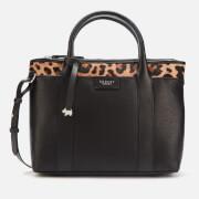 Radley Women's Maples Place Faux Leopard Medium Ziptop Multiway Bag - Black