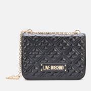 Love Moschino Women's Quilted Medium Shoulder Bag - Black