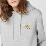 DC Batman Unisex Embroidered Hoodie   Grey   S   Grey