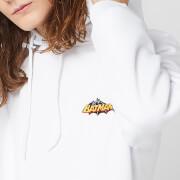 DC Batman Unisex Embroidered Hoodie   White   S   White
