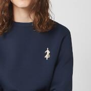 Nintendo Zelda Unisex Embroidered Sweatshirt - Navy