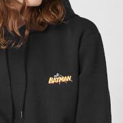 DC Batman Unisex Embroidered Hoodie   Black   S   Black