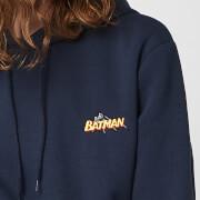 DC Batman Unisex Embroidered Hoodie   Navy   S   Navy