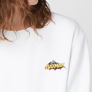 DC Batman Unisex Embroidered Sweatshirt   White   XL   White