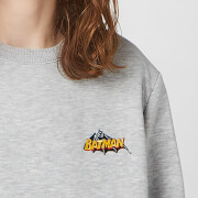 DC Batman Unisex Embroidered Sweatshirt   Grey   S   Grey