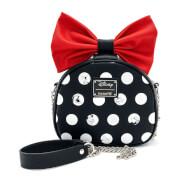 Loungefly Disney Minnie Polka Big Red Bow Crossbody Bag