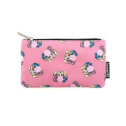 Loungefly DC Comics Harley Quinn Bubble Gum Aop Nylon Pouch